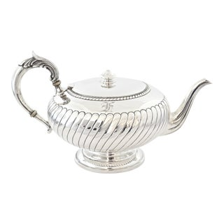 Sterling Silver Monogram Tea Pot For Sale