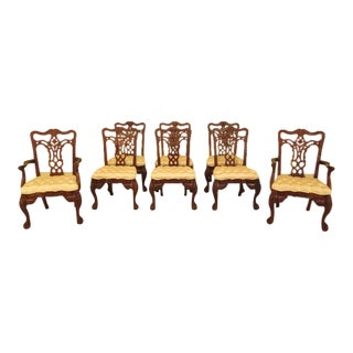 Maitland Smith Georgian Mahogany Dining Room Chairs - Set of 8