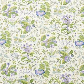 Schumacher Pomegranate Botanical Wallpaper in Purple , Sample For Sale