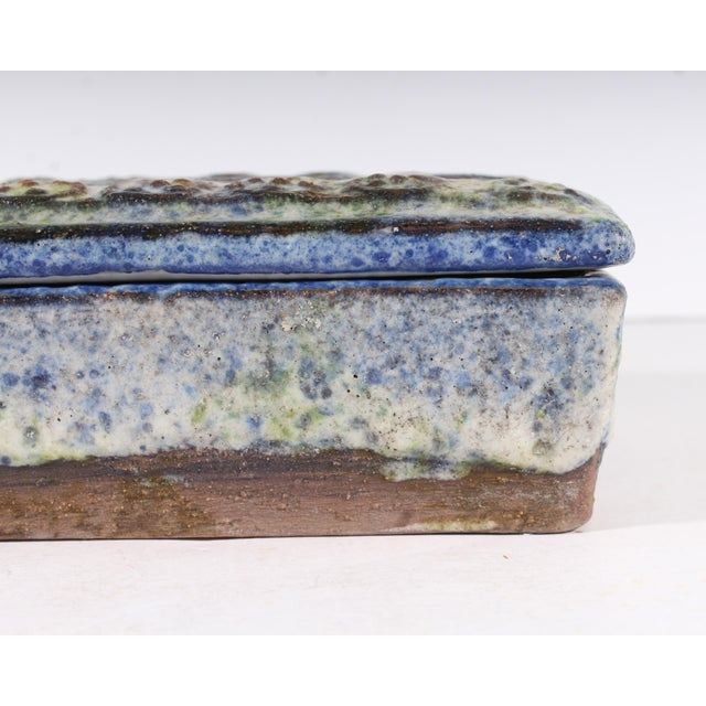 Alvino Bagni for Raymor Italian Mid-Century Blue and Green Dresser Box For Sale In Indianapolis - Image 6 of 9