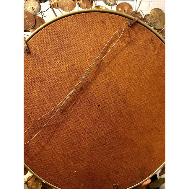 Mid-Century Modern Bamboo Form Frame Mirror with Floating Orbit Spheres For Sale - Image 10 of 12