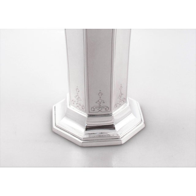 Wallace Silversmiths Sterling Reticulated Vase For Sale - Image 4 of 7