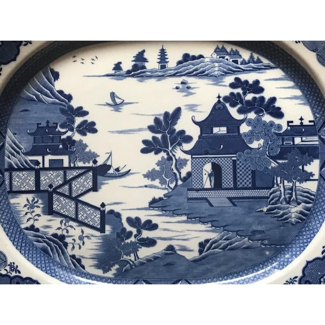 This large platter was purchased from an antique dealer in London about 20 years ago. It does not have a brand mark but...