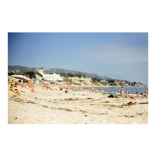 Vintage 1960s Laguna Beach California Beach Photo Print For Sale