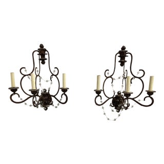 Niermann Weeks Avignon Three Light Wall Sconces - a Pair For Sale