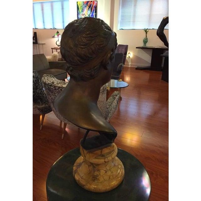 1906 Cesar Sab De Angelis Fils Naples Bronze Bust - Image 8 of 10