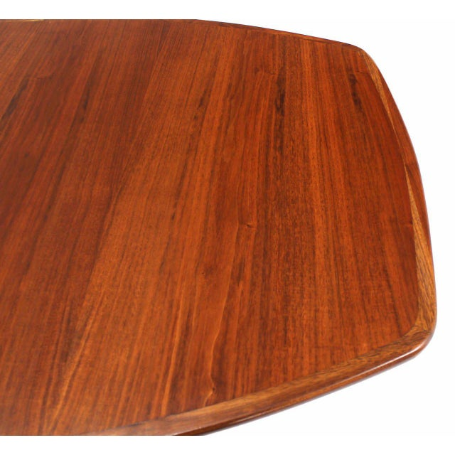Oiled Walnut Dining Table with Two Extension Board Leaves For Sale - Image 4 of 9