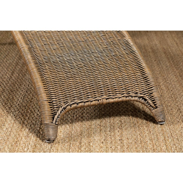 Mid-Century Italian Rattan Lounge Chair For Sale - Image 4 of 9