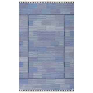 Vintage Marta Maas Scandinavian Marianne Richter Fasad Lattbla Rug - 6′3″ × 10′ For Sale