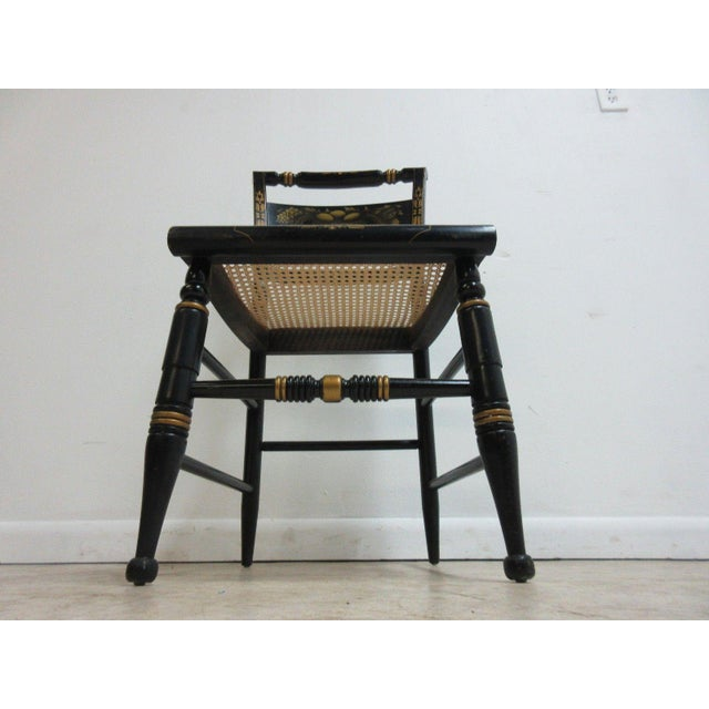Vintage Hitchcock Style Cane Seat Side Chair For Sale In Philadelphia - Image 6 of 10