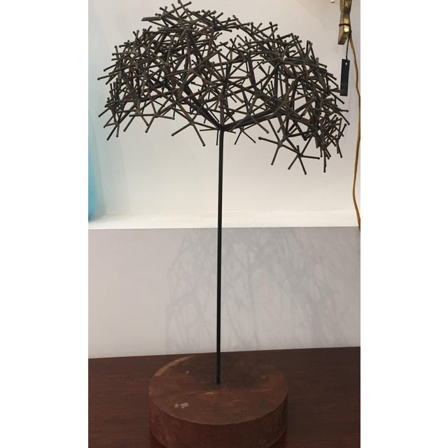 Brown Mid century sculpture tree For Sale - Image 8 of 8