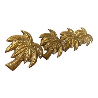 Brass Palm Tree Napkin Rings, Set of 4 For Sale