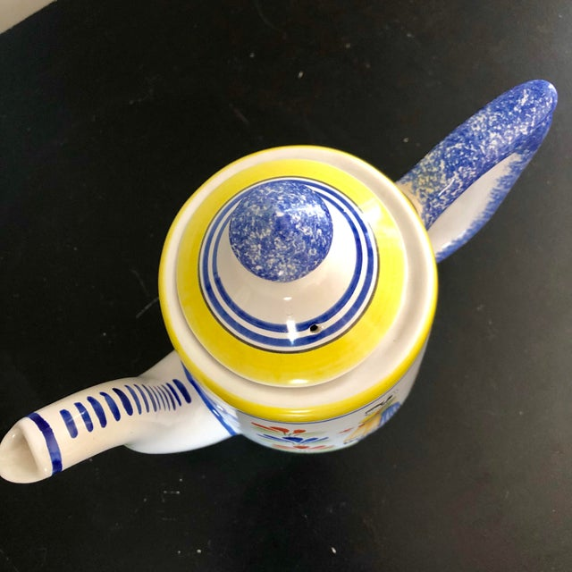 French Vintage Henriot Quimper Coffee Pot For Sale - Image 3 of 7