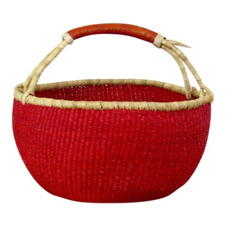 African Large Red Basket