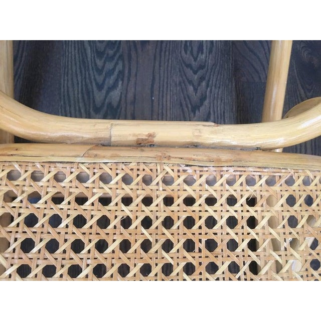 1960s Mid-Century Boho Chic Bentwood Bamboo Rocking Chair For Sale - Image 5 of 10