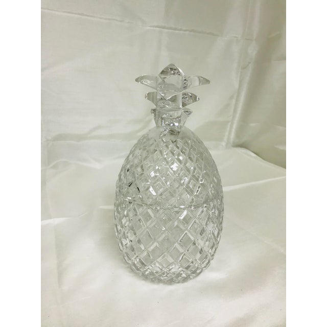Hollywood Regency 1970s Hollywood Regency Large Glass Pineapple With Lid For Sale - Image 3 of 7