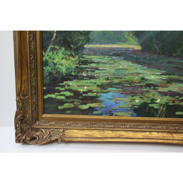 Mid 20th Century Caddell Spring Marsh Oil Painting For Sale - Image 5 of 8
