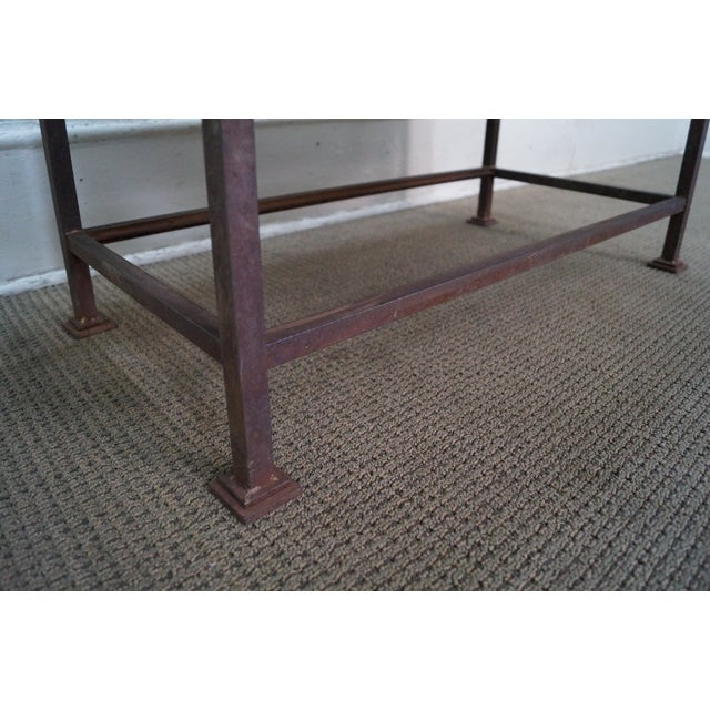 Rustic Scrolled Iron Frame Window Bench - Image 5 of 10