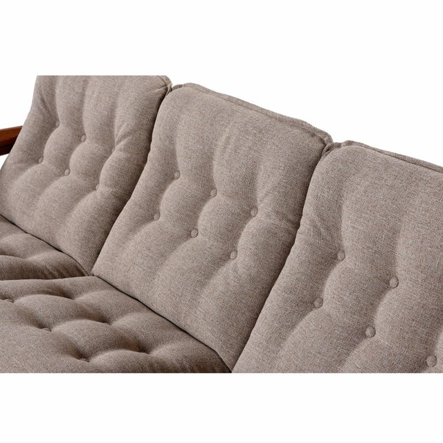 Danish Solid Teak 3 Seater Sofa by Domino Mobler For Sale - Image 4 of 8