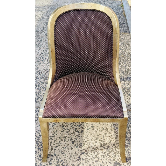 """Vintage 20th Century French """"Donghia"""" Style Gilt Chairs - Set of 4 For Sale - Image 4 of 10"""