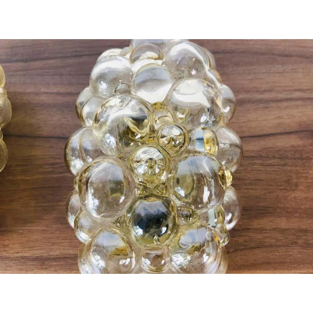 Gold Pair of Midcentury Bubble Glass Wall Lamps by Helena Tynell for Limburg, 1960s For Sale - Image 8 of 9