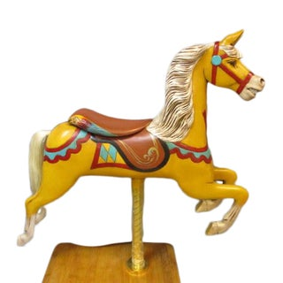 Antique Carousel Horse From Track Machine For Sale
