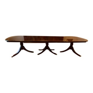 Triple Pedestal Dining Table For Sale