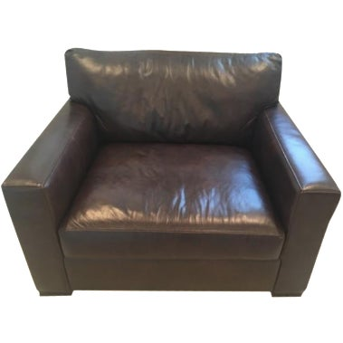 Crate & Barrel Axis II Leather Chair - Image 1 of 8