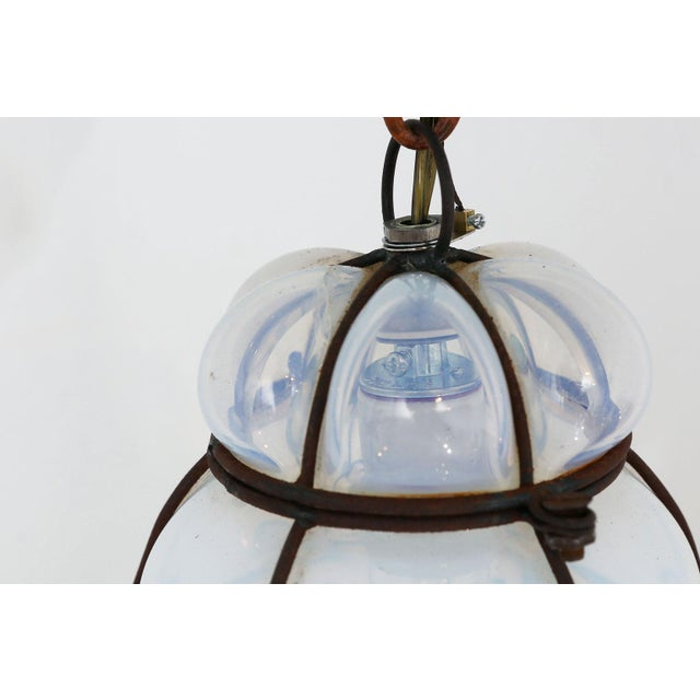 Three Caged Glass Italian Pendants For Sale - Image 12 of 13
