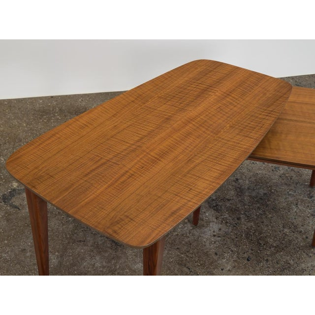 Wood 1950s Bertha Schaefer Folding Coffee Table For Sale - Image 7 of 12