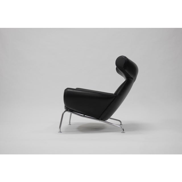 Animal Skin Early Ox Lounge Chair by Hans Wegner for a.p. Stolen For Sale - Image 7 of 11