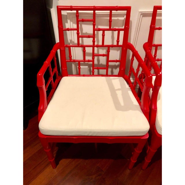 Chinese Chippendale Chair features a faux bamboo frame in a sleek modern finish. Chinese Chippendale Chair is made of...