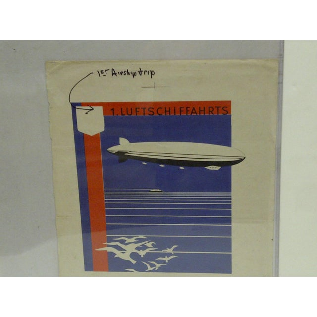 C. 1920 First Zeppelin Non-Stop Flight Artist Proof for Poster For Sale - Image 4 of 5