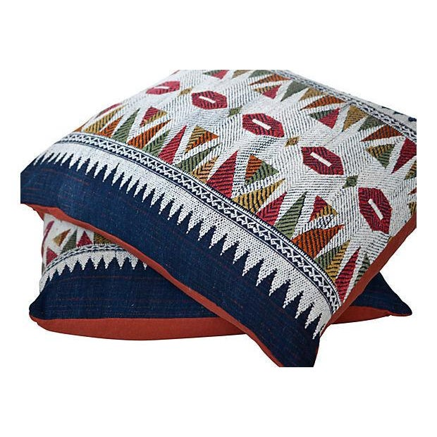 Contemporary Embroidered Laotian Tribal Pillow - Pair For Sale - Image 3 of 4