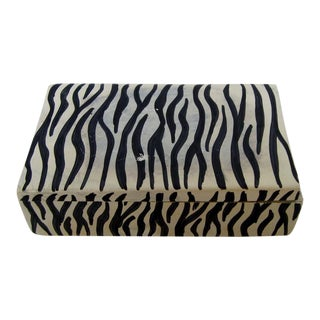 African Soapstone Lidded Box For Sale