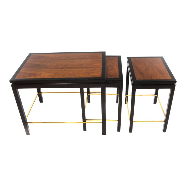 SET OF THREE NESTING TABLES BY EDWARD WORMLEY FOR DUNBAR, CIRCA 1950S - Image 1 of 11
