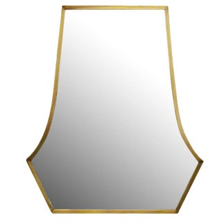 Large Art Deco Styled High Style Bronze Vanity Mirror For Sale