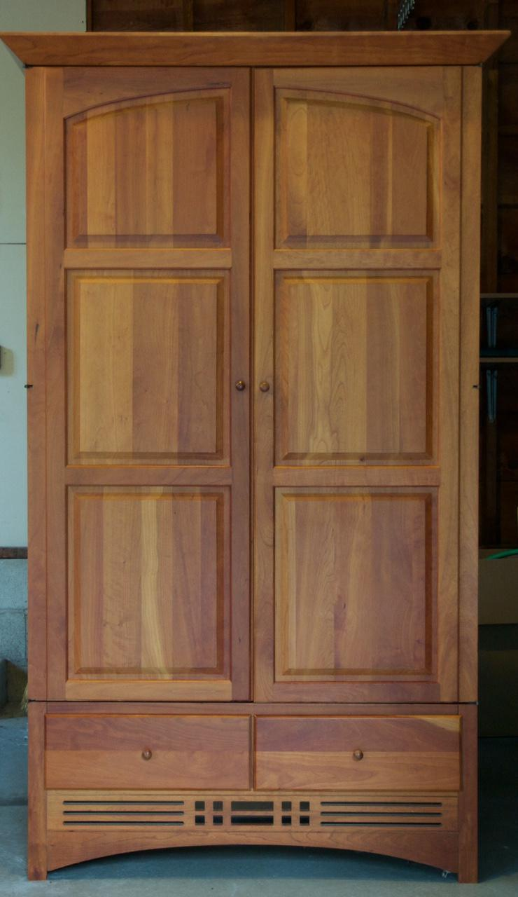 Superieur Vintage Harden Mission Style Solid Cherry Armoire   Image 2 Of 5