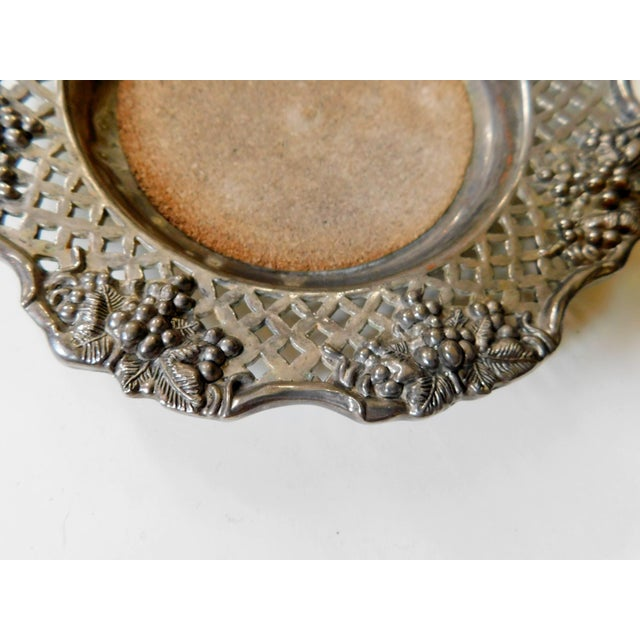Traditional Traditional Silver Wine Bottle Coaster For Sale - Image 3 of 6