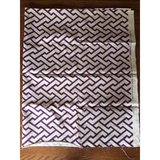 "Contemporary Quadrille /China Seas ""Aga"" Print Linen Purple Fabric For Sale - Image 3 of 5"