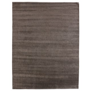 Exquisite Rugs Creil Hand loom Bamboo/Silk Linen Rug-8'x10' For Sale