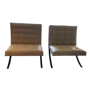 Moxie Leather Chair - a Pair For Sale
