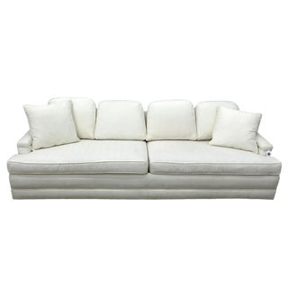 Mid Century Modern White Sofa For Sale