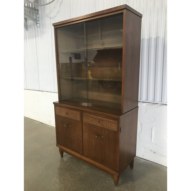 Mid-Century Walnut China Cabinet - Image 2 of 9