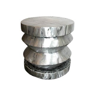 Cast Aluminum Stool or End Table For Sale