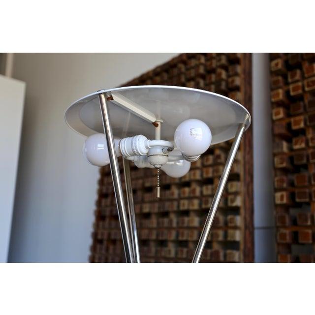 "t.h. Robsjohn Gibbings ""Tripod"" Floor Lamps - a Pair For Sale - Image 11 of 13"