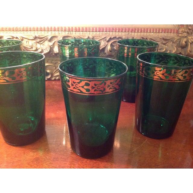 Vintage Green Glasses - Set of 6 - Image 3 of 4