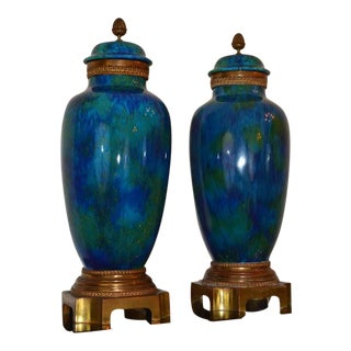 1920s Sevres Art Deco Urns - A Pair For Sale