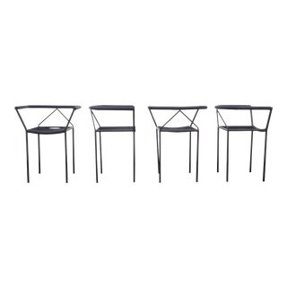 1980s Vintage Peregalli Poltroncina Chairs- Set of 4 For Sale