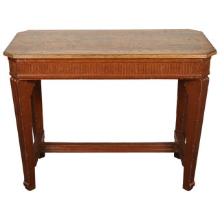 1840s French Oak Wood Console Sideboard For Sale
